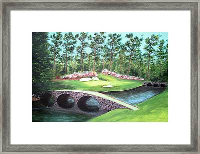 12th Hole At Augusta National Framed Print