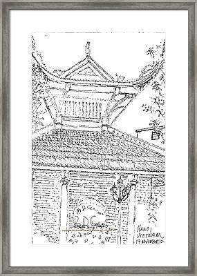 12.viet.han.tem.insd Framed Print by Brian Canevari