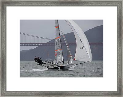 18 Skiff International Framed Print by Steven Lapkin