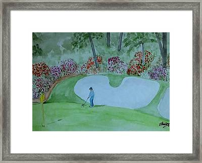#13 Augusta National  Framed Print by Kathie Sullivan Pauley
