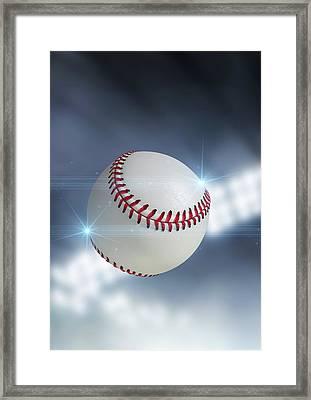 Ball Flying Through The Air Framed Print