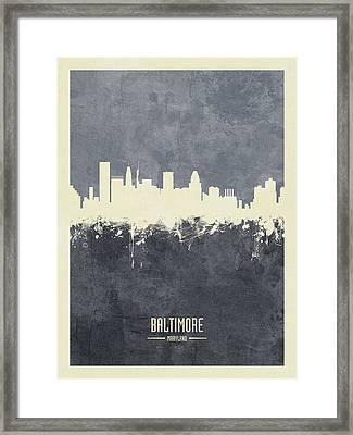 Baltimore Maryland Skyline Framed Print