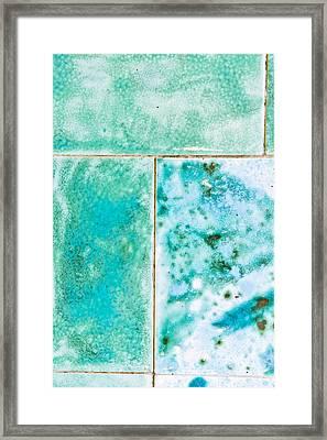 Blue Tiles Framed Print