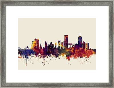 Boston Massachusetts Skyline Framed Print