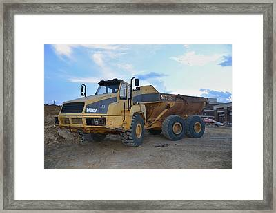 13 - Construction Equipment Series Framed Print by Matt Plyler