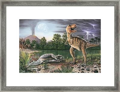 Cretaceous-tertiary Extinction Event Framed Print by Richard Bizley