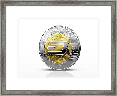 Cryptocurrency Physical Coin Framed Print