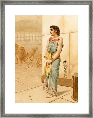 Daniel In The Lions' Den Framed Print
