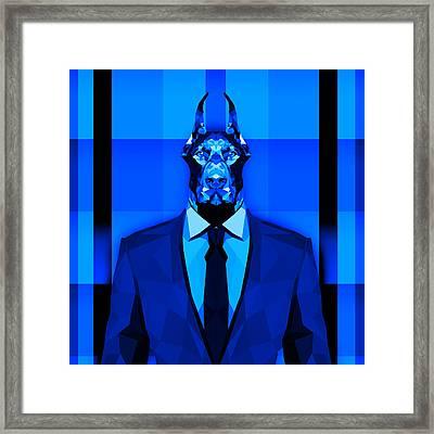13 Doberman Framed Print by Gallini Design