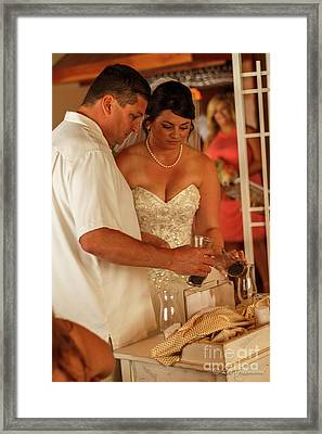 Faulkner Wedding Framed Print