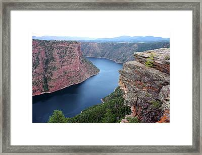 Flaming Gorge National Park Framed Print by Ellen Tully