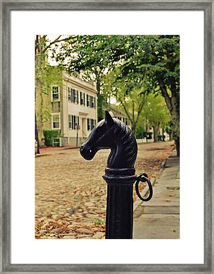 Nantucket Hitching Post Framed Print by JAMART Photography