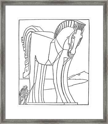 Homer: The Iliad Framed Print