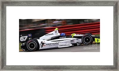 Pro Indycar Racing Framed Print