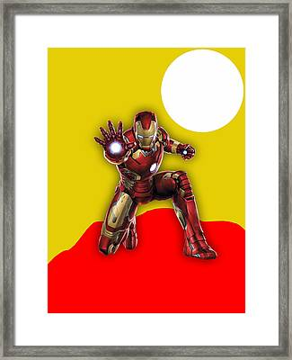 Iron Man Collection Framed Print