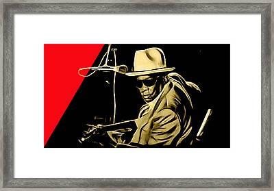 John Lee Hooker Collection Framed Print