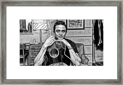 Johnny Cash Collection Framed Print by Marvin Blaine