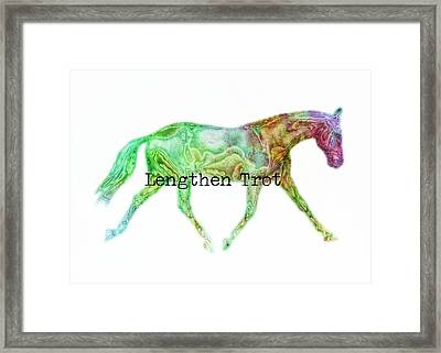 Lengthen Trot Watercolor Quote Framed Print by JAMART Photography
