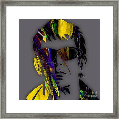 Lou Reed Collection Framed Print by Marvin Blaine