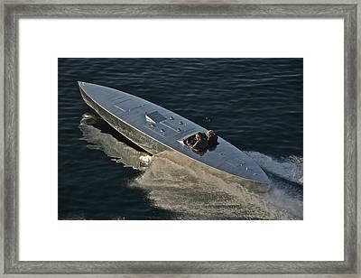 Mercury Race Boat Framed Print