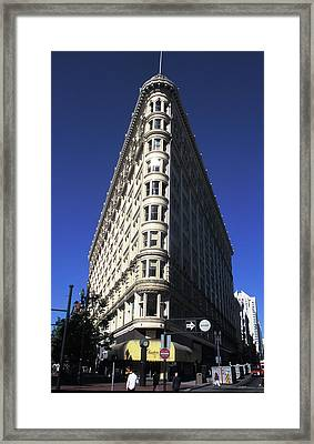 Phelan Building In San Francisco Framed Print by Carl Purcell