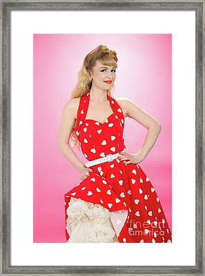 Pin Up Girl Framed Print by Amanda Elwell