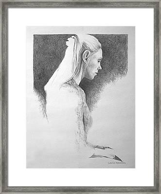13 Reasons   Self Portrait Framed Print by Leslie Rhoades