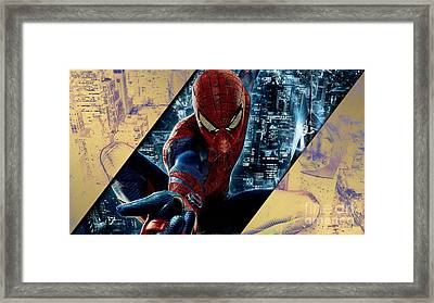 Spiderman Collection Framed Print
