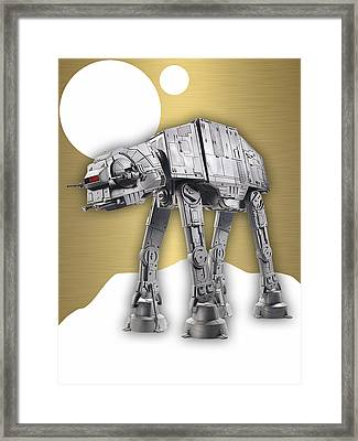 Star Wars At-at Collection Framed Print by Marvin Blaine