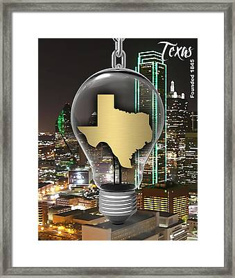 Texas State Map Collection Framed Print by Marvin Blaine