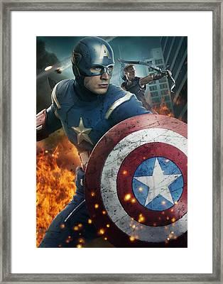 The Avengers 2012 Framed Print