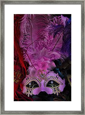 Venetian Carnaval Mask Framed Print by David Smith