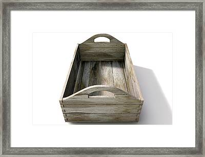 Wooden Carry Crate Framed Print by Allan Swart