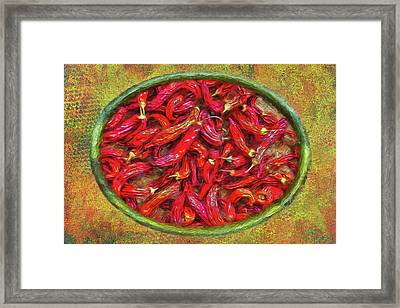 Red Hot Ready Framed Print