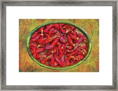 Red Hot Ready Framed Print