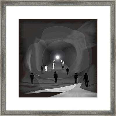 1308 - Light At The End Of The Tunnel Framed Print