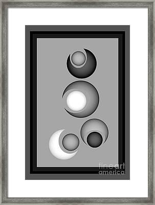 Framed Print featuring the digital art 1320-2017 by John Krakora