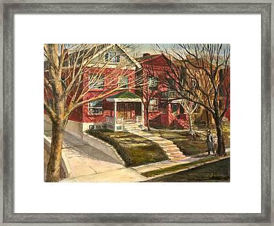 1385 Clara Avenue Framed Print by Edward Farber