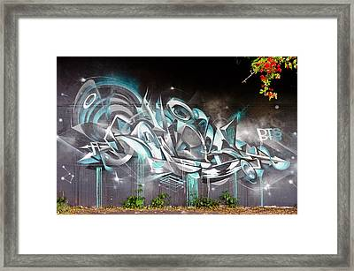 Abstract Graffiti On The Textured Wall Framed Print by Yurix Sardinelly