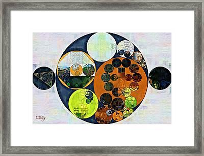 Abstract Painting - Dark Jungle Green Framed Print by Vitaliy Gladkiy