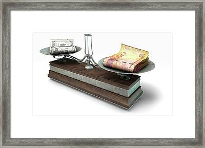 Balance Scale Comparison Framed Print