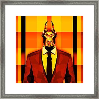 14 Doberman Framed Print by Gallini Design