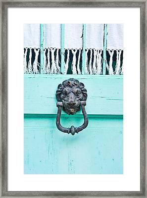 Door Knocker Framed Print
