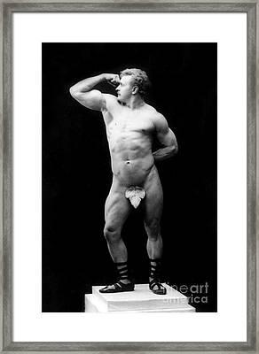 Eugen Sandow, Father Of Modern Framed Print