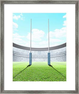 Floodlit Stadium Day Framed Print by Allan Swart