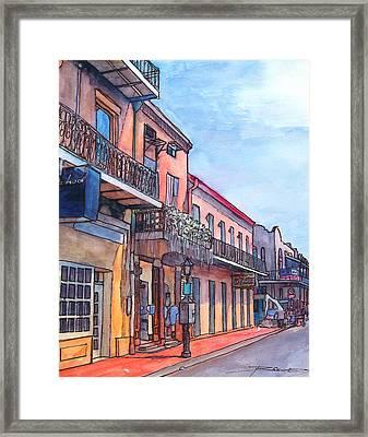 14  French Quarter Street Framed Print by John Boles