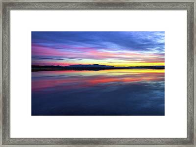 Lake Winnipesaukee - Layers Framed Print