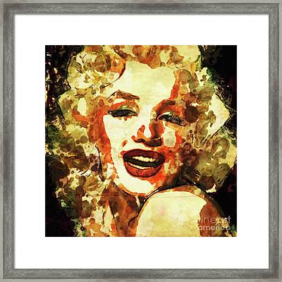 Marilyn Monroe Vintage Hollywood Actress Framed Print