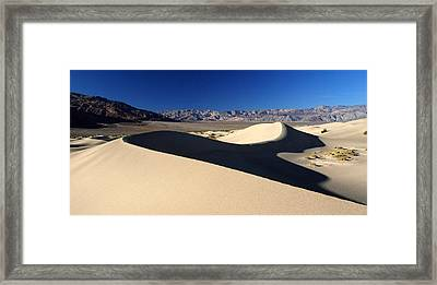 Mesquite Sand Dunes In Death Valley National Park Framed Print by Pierre Leclerc Photography