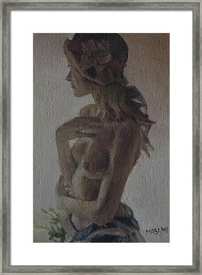 Modesty Framed Print by Masami Iida